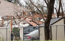 Damage in Garland Texas from tornado