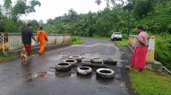 Heavy rain in Samoa has caused disruptions