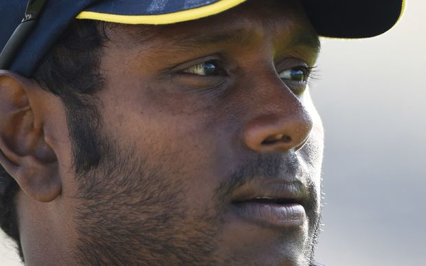 Sri Lanka captain Angelo Mathews has apologised for his team being 'embarassing and pathetic'.