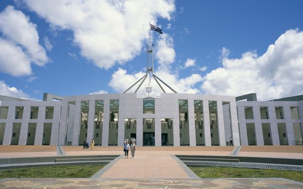 Australia's Parliament buildings, in Canberra.