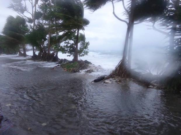 Tuvalu hit by strong winds