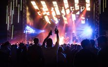 People party at last year's Rhythm and Alps festival.