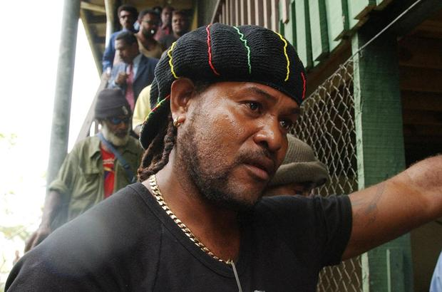 Jimmy Rasta, leader of the Malaita Eagle Force militia, in Solomon Islands in July 2003