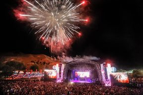 Fireworks display to welcome in 2016 at Rhythm and Vines, in Gisborne