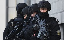 Members of the German police's BFE+ (Evidence and Arrestment Unit)