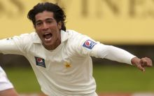 The Pakistan fast bowler and convicted spot fixer Mohammad Amir.