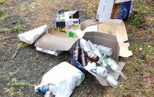 Rubbish dumped in Twizel.