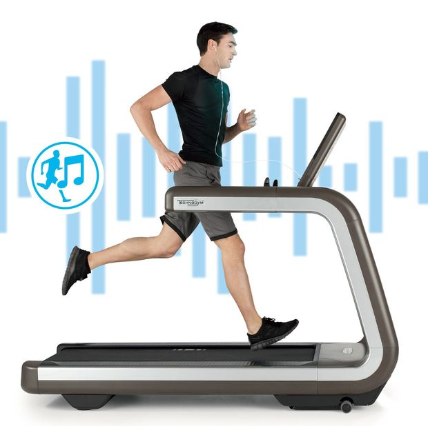 The Technogym treadmill that comes with its own soundtrack