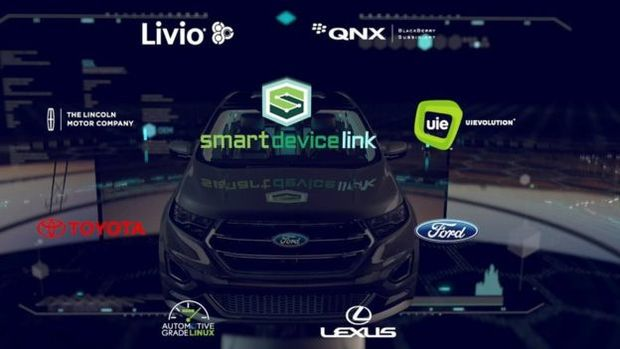 The SmartDeviceLink platform lets smartphones connect to a vehicle's dashboard