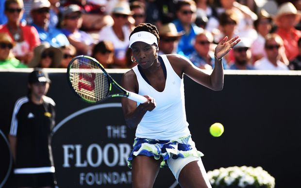 Defending champion Venus Williams ousted in 1st round in NZ