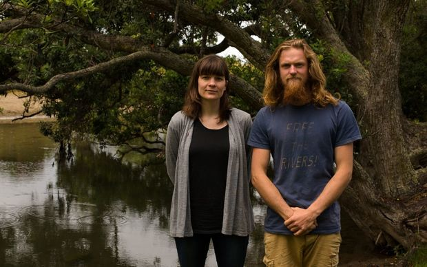 Clean water campaigners of Marnie Pickett and Geoff Reid.