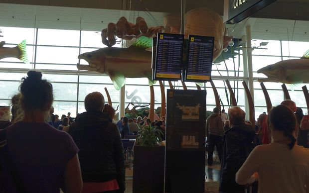 Many passengers had flights delayed at  Wellington airport.