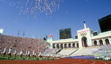 Los Angeles Olympic Games 1984 - Opening ceremony, 28 July 1984.