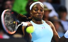 American Sloane Stephens has advanced to the final at Auckland's ASB Tennis Classic.