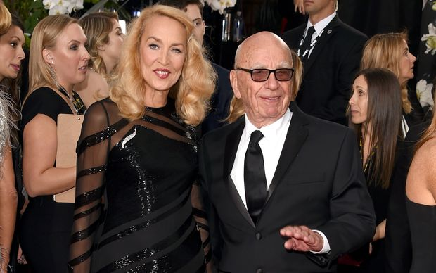 Rupert Murdoch and Jerry Hall at this week's Golden Globes ceremony