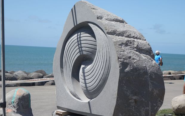 Stone art transforms new plymouth waterfront radio