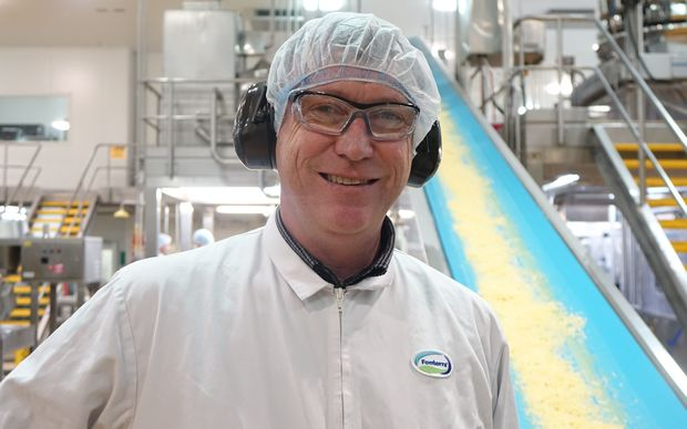 Production manager for block and grated cheese Brendon Birss.