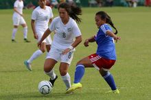 The New Zealand U-17 women's team kicked off the tournament with an easy 11 nil win over Samoa.