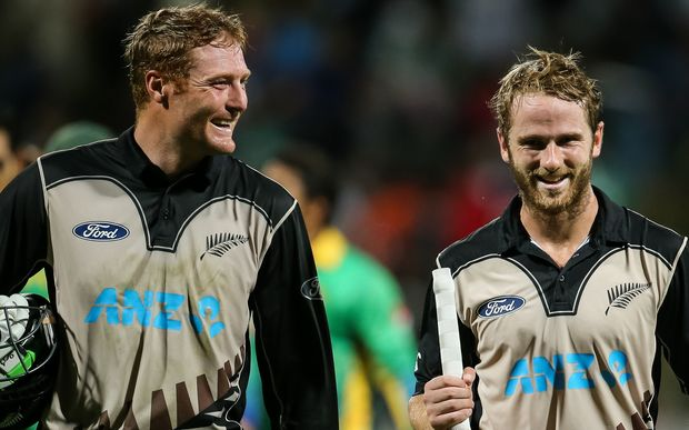 New Zealand Cricketers Martin Guptill and Kane Williamson Photo: PHOTOSPORT