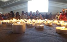 The Te Atatu community turned out in numbers for a memorial service for Cun Xiu Tian