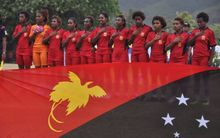 The PNG women's under 17 team, 2016.