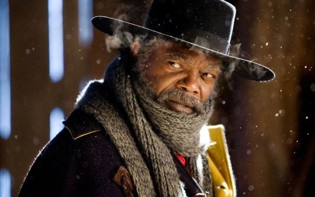 Samuel L Jackson in The Hateful Eight, written and directed by Quentin Tarantino