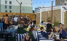 The rooftop bar at the Arborist.