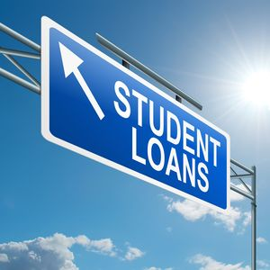 Student loan sign