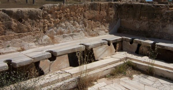 Roman latrines from Lepcis Magna in Libya