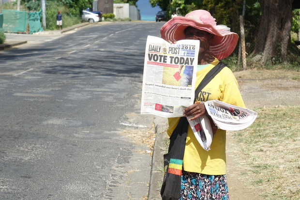 Election day in Vanuatu