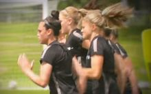 The Football Ferns in training