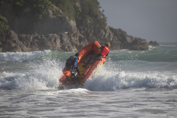 Surf lifesavers join the search on Sunday.