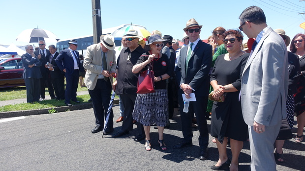 Political parties being welcomed onto the marae.