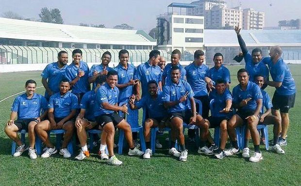 The Fiji Under 19 team at the World Cup in Bangladesh.