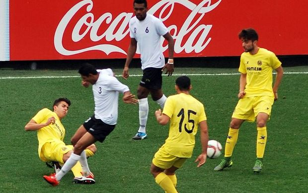 Fiji face the Villareal Youth team during their tour of Spain.
