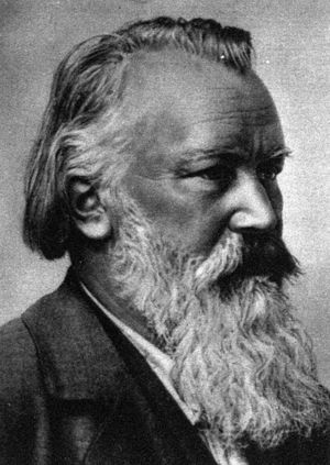 Brahms in his later years.