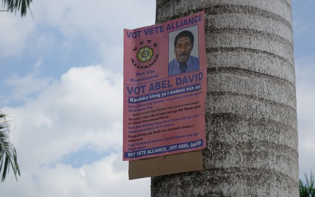Campaign Poster for Port Vila election candidate, Abel David.
