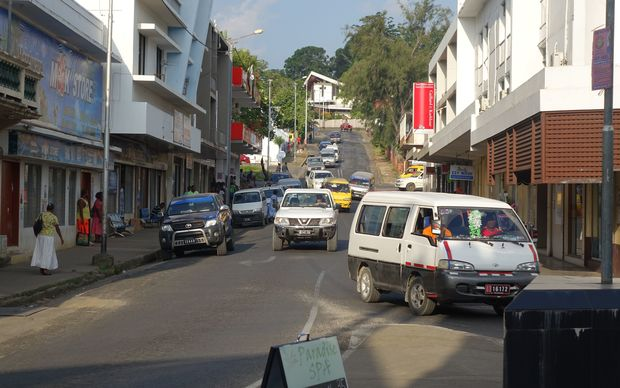 A busy street in Vanuatu's capital, Port Vila.