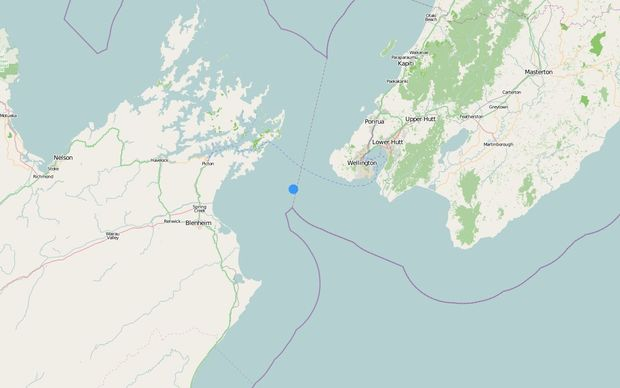 A 4.1 magnitude earthquake has hit 30km west of Wellington at a depth of 50km.