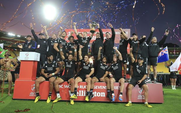 All Black Sevens victory Wellington 2016.