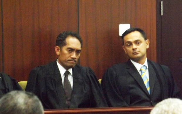 One of Samoa's senior lawyers, Leiataualesa Daryl Clarke (right), is the new judge of the District Court.