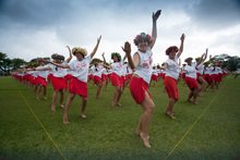 World record set by 2,980 Tahitian dancers