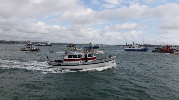 Eighteen tugboats raced on Waitemata Harbour as part of the Auckland Anniversary Regatta celebrations.