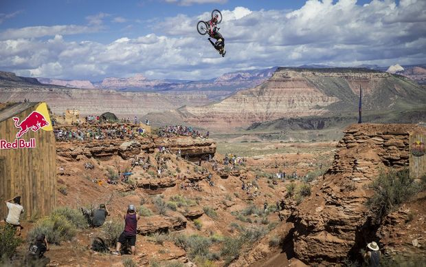 Kelly McGarry in the Red Bull Rampage in in 2014.