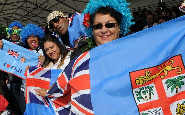 Fiji sevens fans show their support.