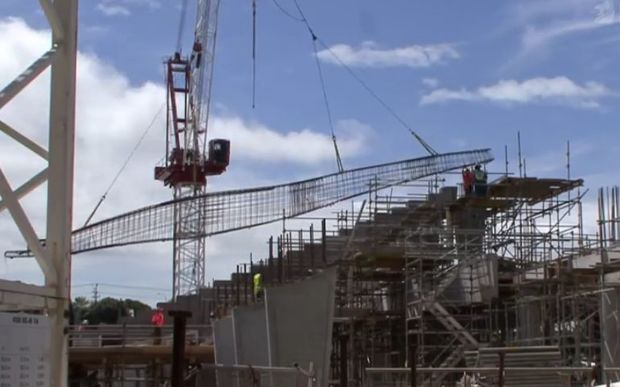 A screengrab from a Fletcher Building video showing construction work.