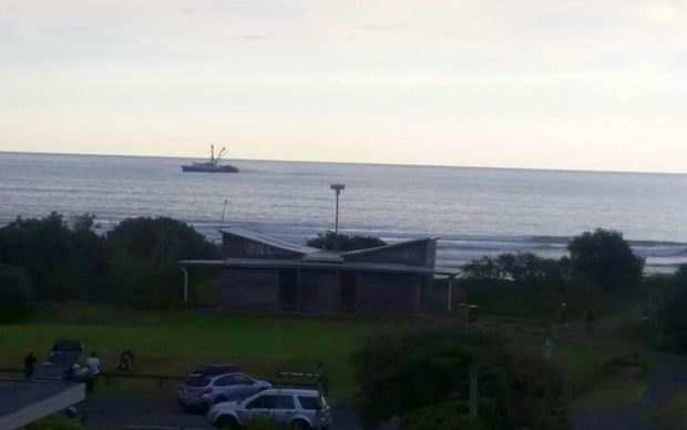 A Talley's 61 metre purse seiner in Piha