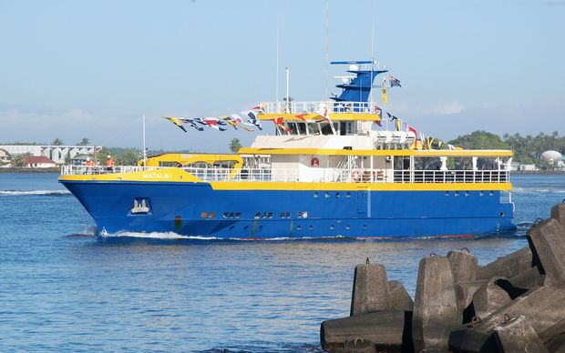 Tokelau's new ferry 'Mataliki'