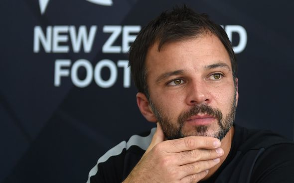 All Whites coach Anthony Hudson during a press conference in Auckland. Thursday 23 April 2015. Copyright Photo: Andrew Cornaga / www.photosport.co.nz