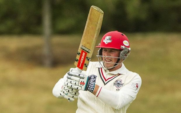 Henry Nicholls batting in a four-day Plunket Shield match for Canterbury vs Central Districts at Mainpower Oval, Rangiora. 17 December 2015. Photo: Joseph Johnson / www.photosport.nz